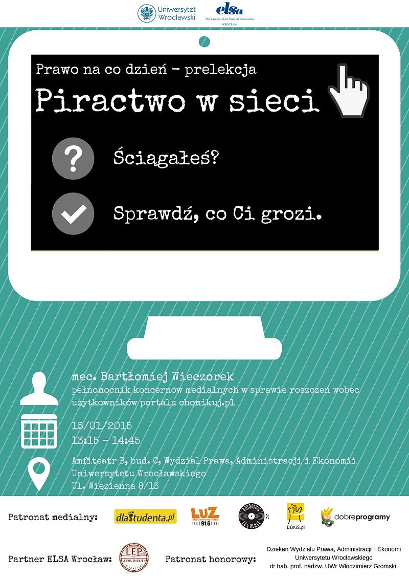 """Patronat medialny nad konferencją """"Prawo na co dzień"""" Piractwo w sieci"""